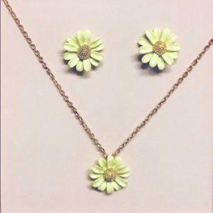 Kate Spade Flower Stud Earrings & Pendant Necklace